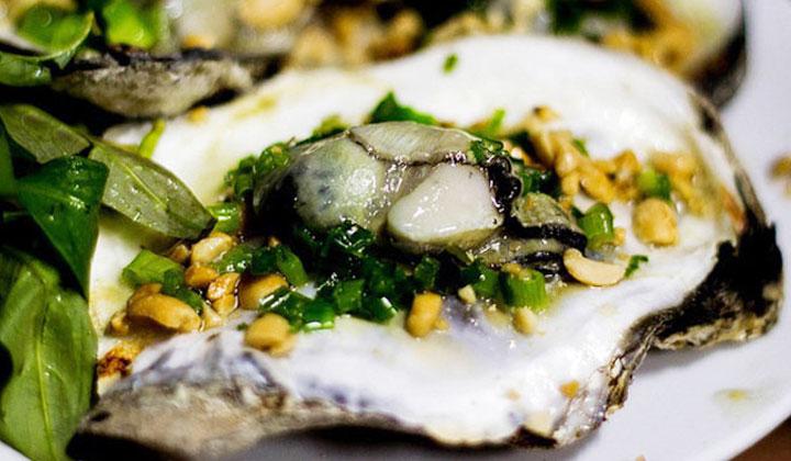 hải sản quy nhơn với món hầu nướng mỡ hành