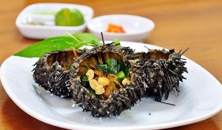 nhum nướng mỡ hành của hải sản quy nhơn