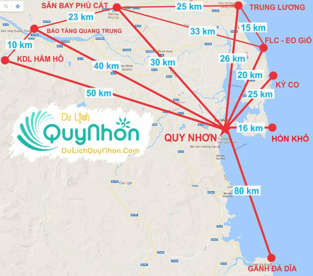 Bản đồ du lịch Quy Nhơn